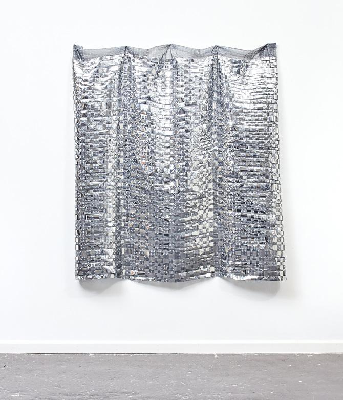 Shower Curtain, Mirror Film   60u201d X 68u201d   2016
